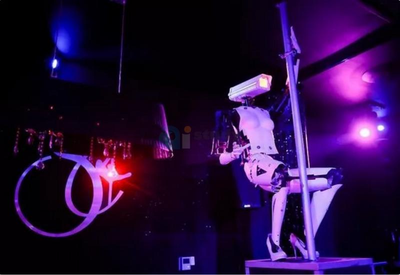 """机器人在法国夜总会跳钢管舞,表演""""性感""""高科技艺术"""